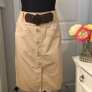 New ! dressbarn Khaki Skirt